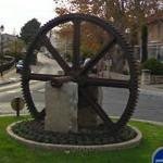 Waterwheel in roundabout