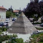 Pyramid in roundabout