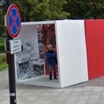 Visiting a mobile Polish exhibition
