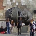 Eros Bendato sculpture by Igor Mitoraj