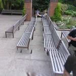 Benches at the concert venue at Chopin's birthplace (StreetView)