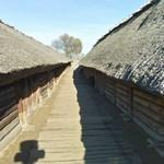 Biskupin Iron Age fort replica - path between the houses