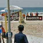 Swatch-Sponsored Beach Volleyball Tournament Underway