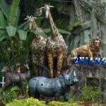 Animal sculptures at Chiang Mai Zoo