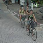 Biker waves (StreetView)
