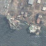 Two oilrigs in Singapore harbour (Google Maps)