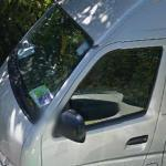 Google Car Reflection on Van