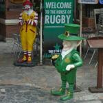 Ronald McDonald & a leprechaun