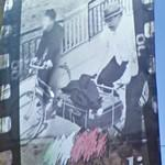 Don Camillo and Peppone on bicycle trip (StreetView)
