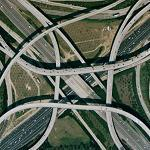 Spaghetti junction Atlanta (Google Maps)
