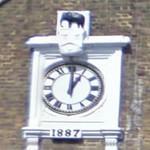 Elephant above a clock (StreetView)