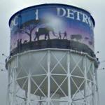 Elephant on a water tower (StreetView)