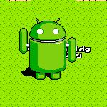 Android robot (Google Maps)