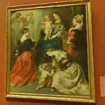 Die Provinzen Brabant, Hennegau und Flandern huldigen der Madonna (1654) by Theodoor van Thulden