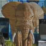 Elephant in a mural (StreetView)