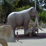 Mother & Baby Elephant statue (StreetView)