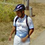 Google Maps Biker (on a bathroom break)