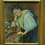 'Young Italian Woman at a Table' by Paul Cézanne