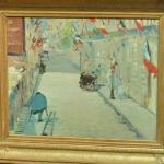 'The Rue Mosnier with Flags' by Édouard Manet