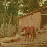 'Tightening the Saddle' by Almeida Júnior