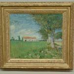 'Farmhouse in a wheatfield' by Vincent van Gogh (StreetView)