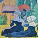'Breton Women with Umbrellas' by Emile Bernard (StreetView)