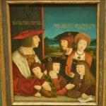 'Emperor Maximilian I with His Family' by Bernhard Strigel