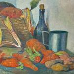 'Still Life with Carrots' by Meijer De Haan