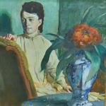'La femme à la potiche' by Edgar Degas