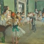 'The Ballet Class' by Edgar Degas