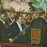 'The Orchestra At The Opera' by Edgar Degas