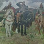 'Heroes (Bogatyri)' by Viktor Vasnetsov