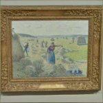 'La Récolte des Foins, Éragny' by Camille Pissarro
