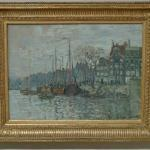 'View of the Prins Hendrikkade and the Kromme Waal in Amsterdam' by Claude Monet