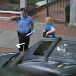 Busted on google maps getting a ticket