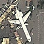 Aircraft on static display (type?) (Google Maps)