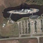 USS North Carolina (BB-55) (Google Maps)