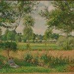 """Morning Sunlight Effect, Eragny"" by Camille Pissarro"