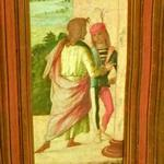 'Two Young Man at a Column' by Lorenzo Costa