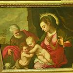 'The holy family with the infant Saint John the baptis' by Leonardo Corona
