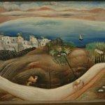 """The Sea of Galilee"" by Reuven Rubin (StreetView)"