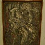 """Father Seated in Armchair"" by Leon Kossoff"