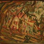 """Village Square at Céret"" by Chaim Soutine"