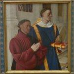'Etienne Chevalier with St. Stephen' by Jean Fouquet