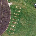 Giant letters at Cranfield airport