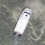 Boat and tire tracks (Google Maps)