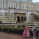 Peterhof Palace's gold statues