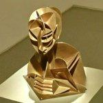 """Constructed Head No. 2"" by Naum Gabo"