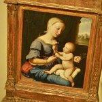 """The Madonna of the Pinks"" by Il Sassoferrato (Giovanni Battista Salvi) (StreetView)"