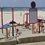 Beach exercise equipment (StreetView)